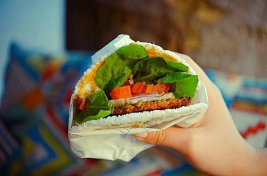 Hambúrguer veggie com Tapioca