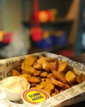 Batatas com maionese sem lactose e sem glúten